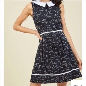 Modcloth Retrolicious Nerdy Math and Science Dress